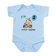 2nd Birthday Boy Cow Infant Bodysuit