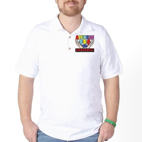 Autism Piece of the Cure Golf Shirt