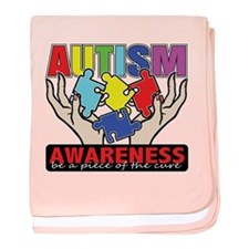 Autism Piece of the Cure baby blanket