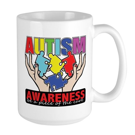Autism Piece of the Cure Large Mug