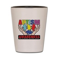Autism Piece of the Cure Shot Glass