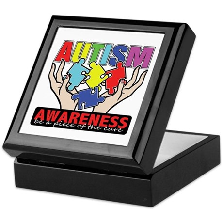 Autism Piece of the Cure Keepsake Box