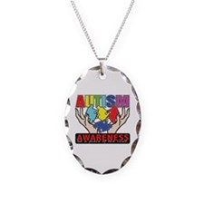 Autism Piece of the Cure Necklace Oval Charm
