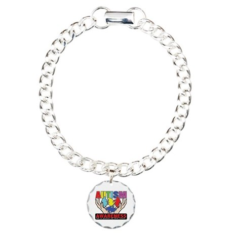 Autism Piece of the Cure Charm Bracelet, One Charm