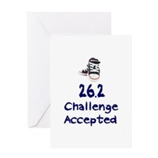 26.2 Challenge Accepted Greeting Card