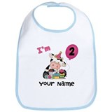 2nd Birthday Girl Cow Bib
