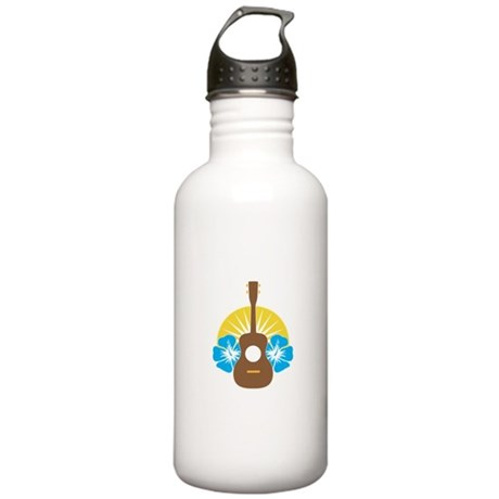 Ukulele Hibiscus Stainless Water Bottle 1.0L