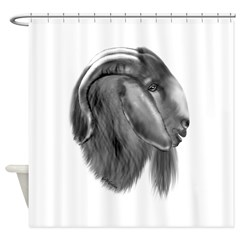 Boer Goat Buck Shower Curtain