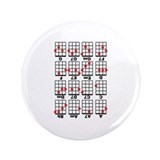 "Uke Chord Cheat White 3.5"" Button"