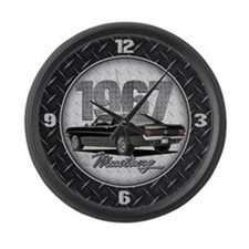 1967 Mustang Fastback Large Wall Clock
