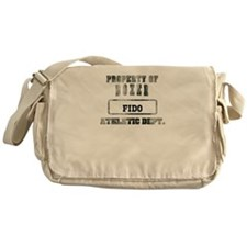 Personalized Boxer Messenger Bag