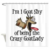Crazy Goat Lady Shower Curtain