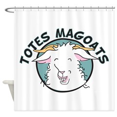 Goat Grandma Shower Curtain