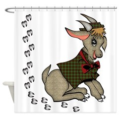 Cute Boy Goat Shower Curtain