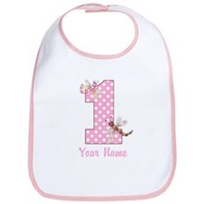 First Birthday Dragonflies Bib
