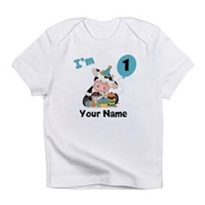 First Birthday Boy Cow Infant T-Shirt