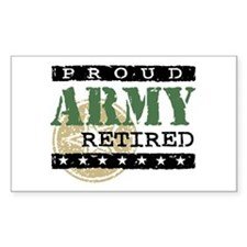 Proud Army Retired Decal