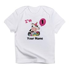 First Birthday Girl Cow Infant T-Shirt