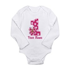 First Birthday Butterfly Long Sleeve Infant Bodysu