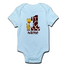 First Birthday Giraffe Infant Bodysuit