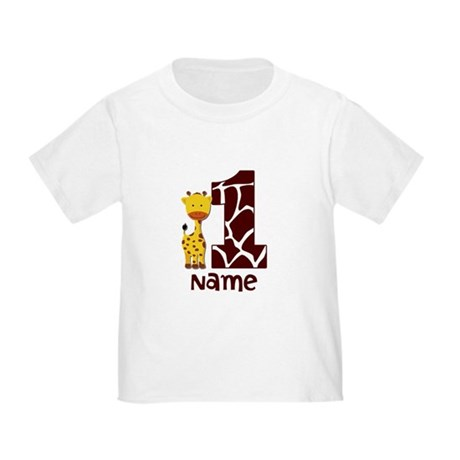 First Birthday Giraffe Toddler T-Shirt