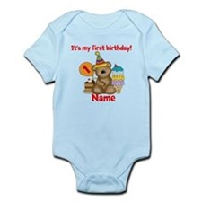 First Birthday Bear Infant Bodysuit