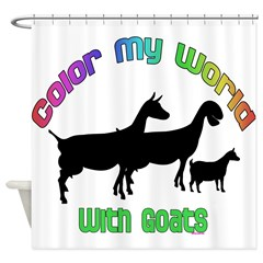 Color my World With Goats Shower Curtain