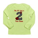 2nd Birthday Ladybug Long Sleeve Infant T-Shirt