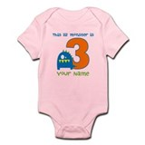 3rd Birthday Monster Infant Bodysuit