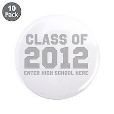 """2012 Graduation 3.5"""" Button (10 pack)"""