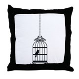 Birdcage Home Throw Pillow