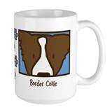 Anime Brown Border Collie Mug