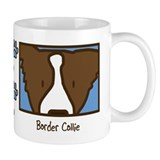 Anime Brown Border Collie Coffee Mug