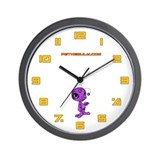 Purple N.E.L.F Wall Clock
