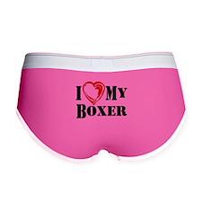 I Heart My Boxer Women's Boy Brief