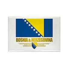 """""""Bosnia & Herzegovina Flag"""" Rectangle Magnet"""