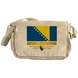 """Bosnia & Herzegovina Flag"" Messenger Bag"
