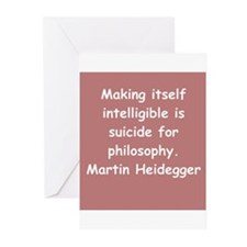 martin heidegger Greeting Cards (Pk of 10)