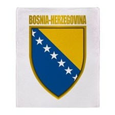 """Bosnia & Herzegovina COA"" Throw Blanket"