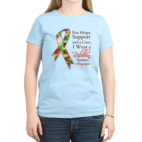 For Hope Autism Ribbon Women's Light T-Shirt