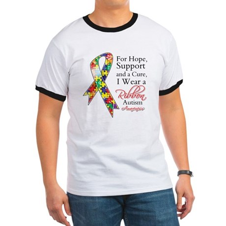 For Hope Autism Ribbon Ringer T