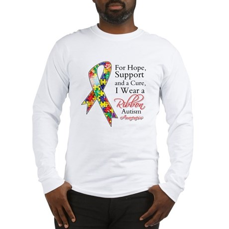 For Hope Autism Ribbon Long Sleeve T-Shirt