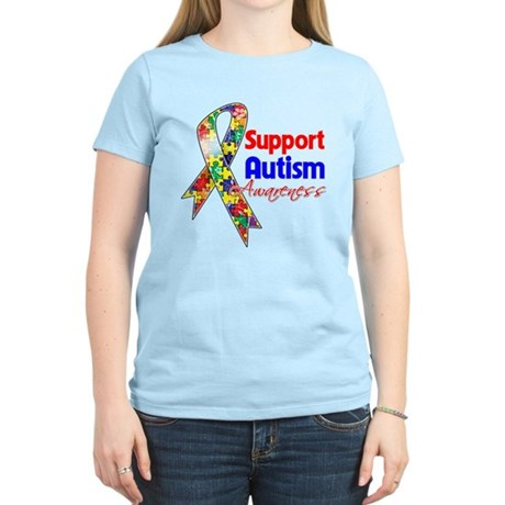 Support Autism Awareness Women's Light T-Shirt