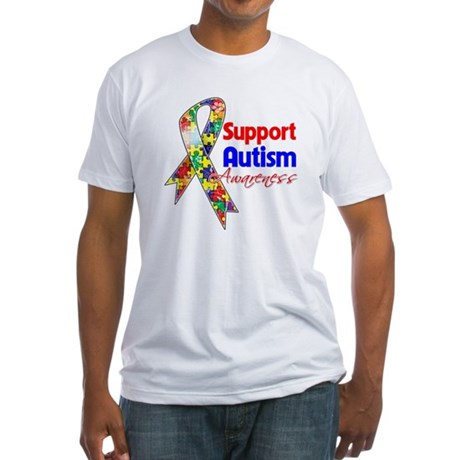 Support Autism Awareness Fitted T-Shirt