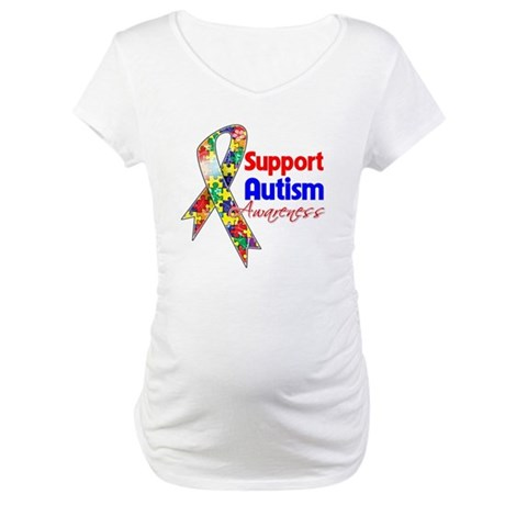 Support Autism Awareness Maternity T-Shirt
