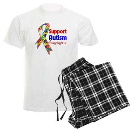 Support Autism Awareness Men's Light Pajamas