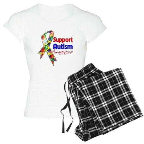 Support Autism Awareness Women's Light Pajamas