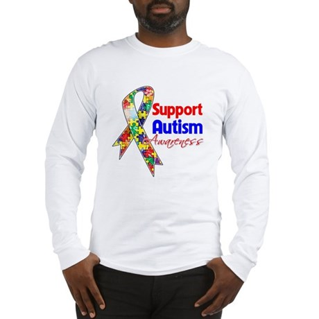 Support Autism Awareness Long Sleeve T-Shirt