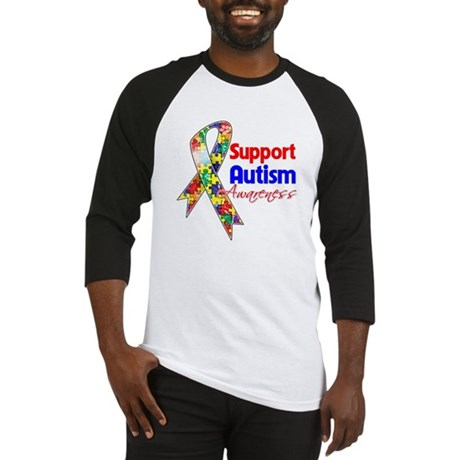 Support Autism Awareness Baseball Jersey