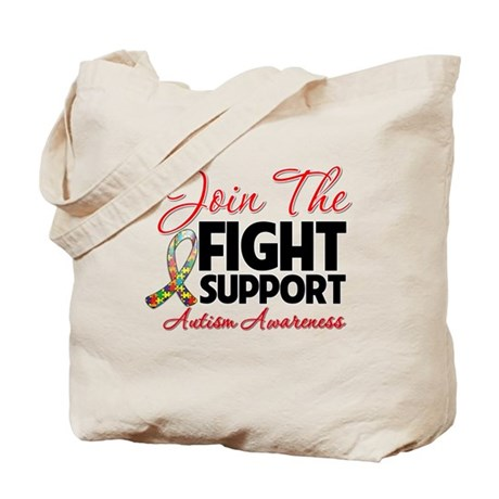Join The Fight Autism Tote Bag